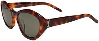 Saint Laurent brown hexagon cat-eye sunglasses