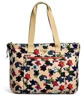 Vera Bradley Falling Flowers Expandable Bag