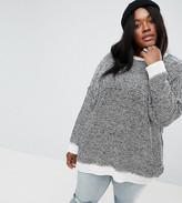 Asos Oversized Sweater In Twisted Yarn