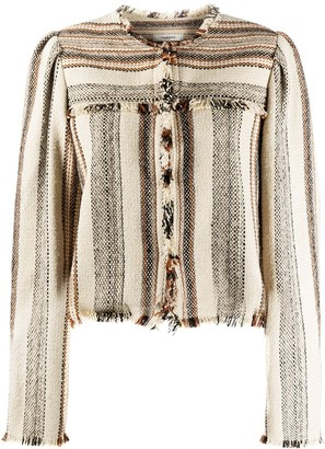 Etoile Isabel Marant Collarless Fringed Jacket