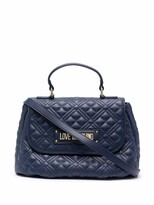 Thumbnail for your product : Love Moschino Logo Quilted Top-Handle Tote