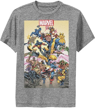 Marvel Boys 8-20 D23 Exclusive Action Pose Collage Poster Performance Graphic Tee