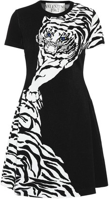 Valentino Knit intarsia minidress