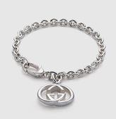 Gucci bracelet with interlocking G motif charm