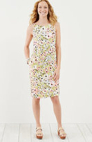 J. Jill Printed Linen Buttoned-Hem Dress