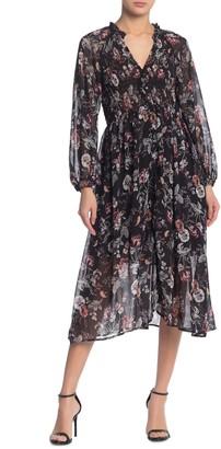 ASTR the Label Floral Smocked Midi Dress