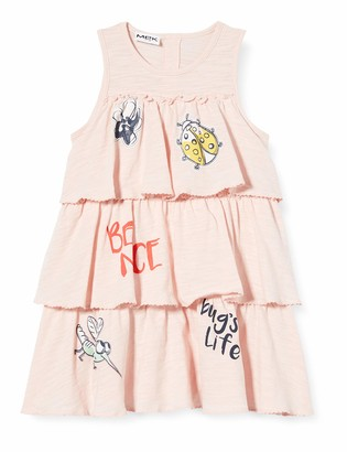 MEK Baby Girls' Abito Jer.slub Con Rouches+couloutte F.sia Dress