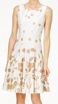 Tommy Hilfiger Women's Floral Fit and Flare Cotton Dress