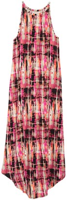 Loveappella Sleeveless Print Maxi Dress
