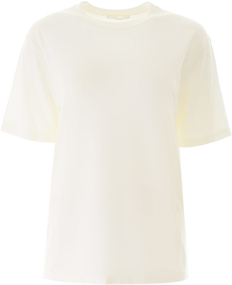 The Row DARCIA KNIT T-SHIRT M White Wool, Cashmere