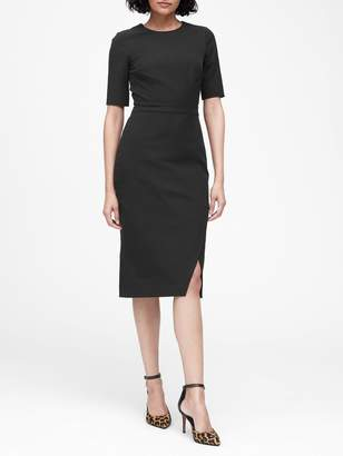 Banana Republic Bi-Stretch Short-Sleeve Sheath Dress