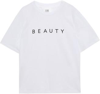 Victoria Victoria Beckham Printed Cotton-jersey T-shirt
