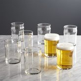 Crate & Barrel Set of 8 Half Pint Glass Tumblers with Crown