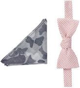 Original Penguin Trevini Stripe Bow Tie & Pocket Square Hookrider Set