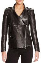 Barbara Bui Shawl Lapel Leather Jacket