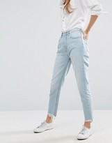 MiH Jeans Mimi Mom Jeans With Destroyed Hem