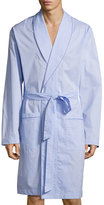 Hanro Ryan Collection Chambray Woven Robe, Blue
