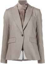Veronica Beard goatskin collared blazer