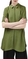 Topshop Women's Drape Back Oversize Shirt