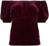 G.V.G.V. Velour puffy sleeve T-shirt - women - Polyester/Polyurethane - XS