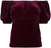 G.V.G.V. Velour puffy sleeve T-shirt