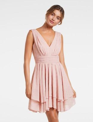 Forever New Cecilia Sleeveless Skater Dress - Blush - 12