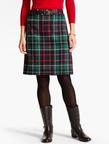Talbots Confetti-Plaid A-Line Skirt