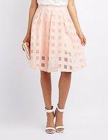 Charlotte Russe Windowpane Organza Midi Skirt