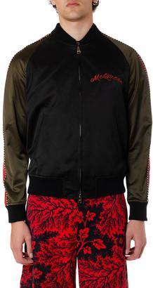 Alexander McQueen Black Cotton & Viscose Dragon Jacket