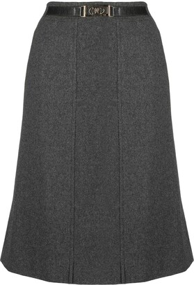 Céline Pre-Owned Pre-Owned Belted Knee-Length Skirt