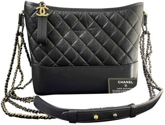 Chanel Gabrielle Black Leather Handbags