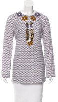 Tory Burch Embellished Printed Tunic