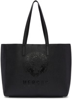 Versus Black Logo Shopper Tote
