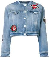 Karl Lagerfeld applique patch denim jacket