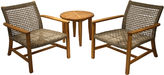OUTDOOR INTERIORS Outdoor Interiors Wicker and Natural Teak Lounge Chair