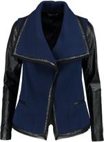 Vince Leather-trimmed wool-blend bouclé jacket