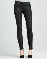 Rich and Skinny Tar Coated Faux-Leather Leggings