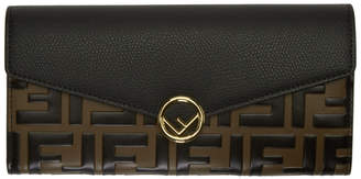Fendi Black and Brown Forever Clutch