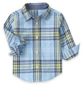 Gymboree Plaid Woven Shirt in Light Blue