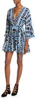 Alexis Julienne Printed Mini Dress, Blue Pattern
