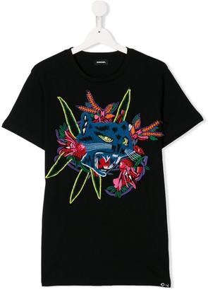 Diesel animal patch T-shirt
