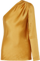 Cushnie et Ochs One-shoulder silk-satin top