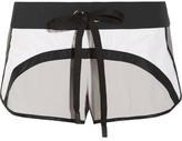 NO KA 'OI No Ka'Oi - Pune Color-block Stretch-shell Shorts - White