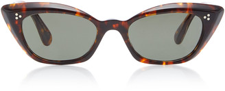 Oliver Peoples Bianka Cat-Eye Tortoiseshell Sunglasses