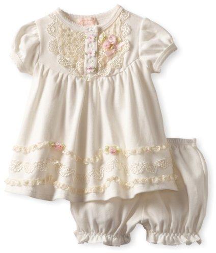 Biscotti Baby-Girls Newborn Lace Lullaby Dress And Bloomer