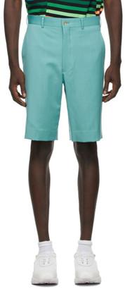 Comme des Garçons Homme Plus Green Wool Gabardine Shorts