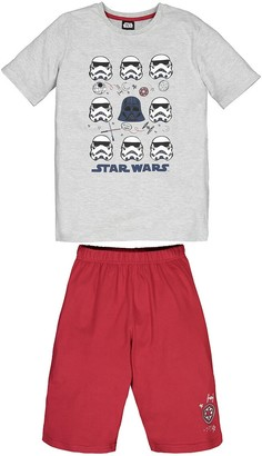 Star Wars Cotton Mix Short Pyjamas with Storm Troopers Print, 6-12 Years