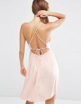 Asos Strappy Tie Back Smock Beach Dress
