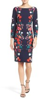Eliza J Petite Women's Floral Print Sheath Dress