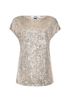 Dorothy Perkins Womens **Dp Tall Silver Sequin Top